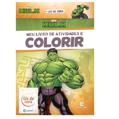 Livro de Atividades e Colorir - Hulk com Giz