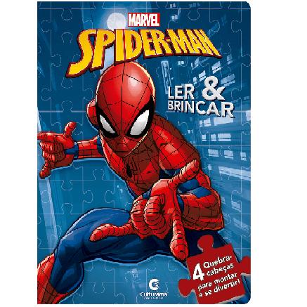 Livro Quebra Cabeça - Homem-Aranha