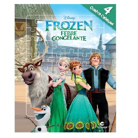 Livro Quebra Cabeça - Frozen Febre Congelante