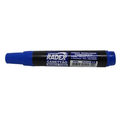 Marcador Permanente AZUL - Canettão Radex (12 Unidades)