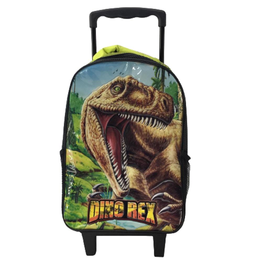 Mochila Carrinho Dino Rex - Verde