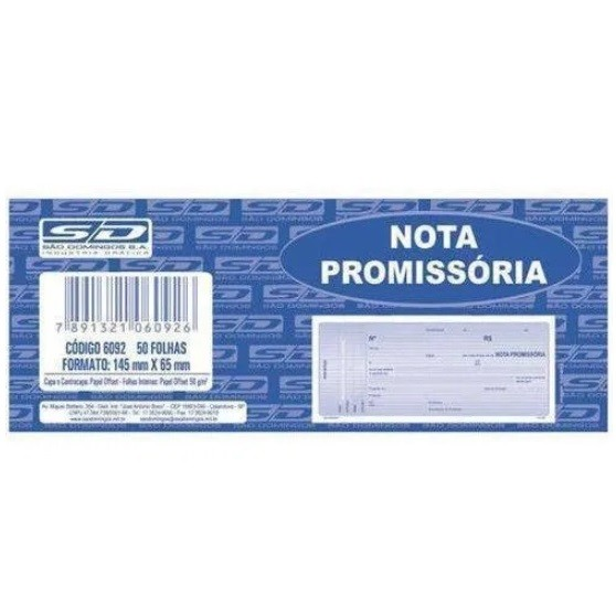 Nota Promissória AMARELA Mini - São Domingos