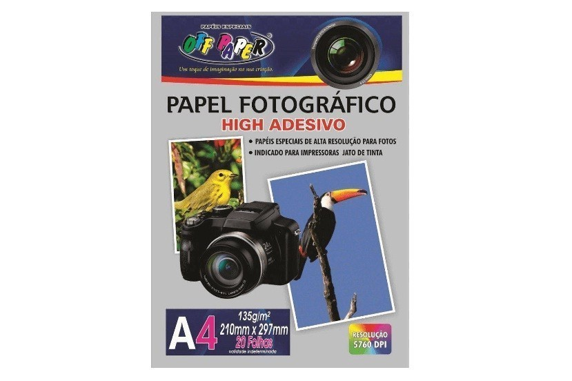 Papel Fotográfico A4 Adesivo 135g - Off Paper