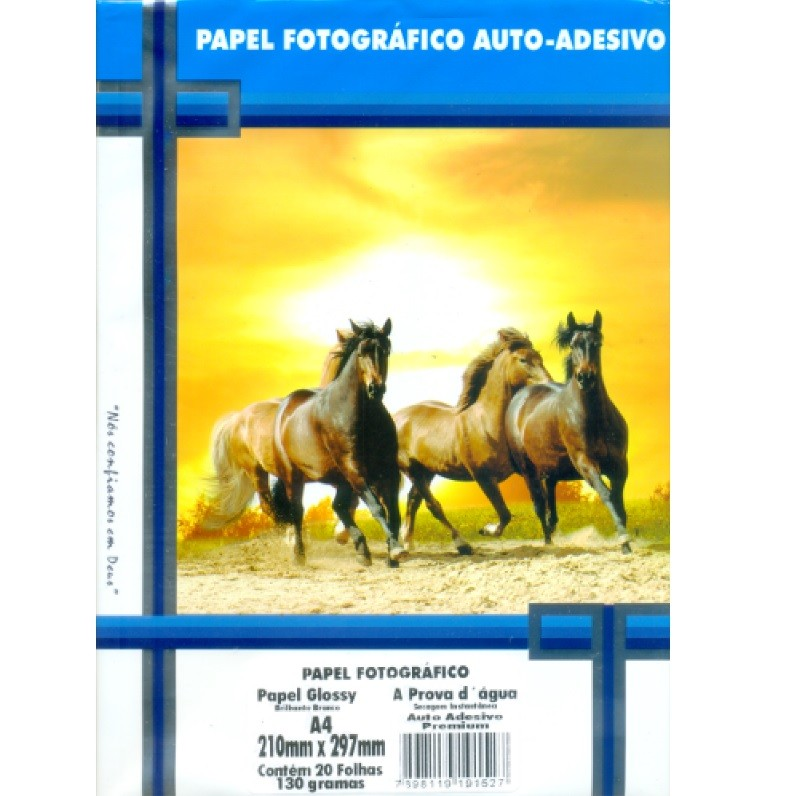 Papel Fotográfico Adesivo A4 130g - Master Print
