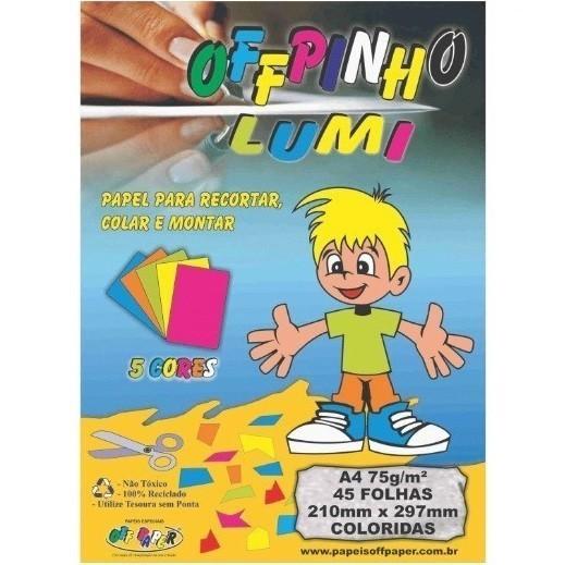 Offpinho Lumi A4 Sortido 75g - Off Paper