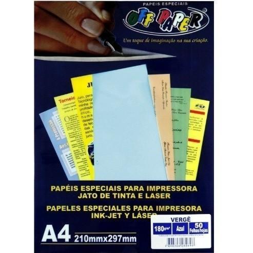 Papel Verge A4 AZUL180g - Off Paper