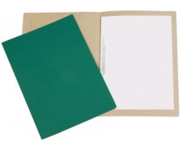 Pasta Cartão Duplex com Grampo VERDE - Polycart