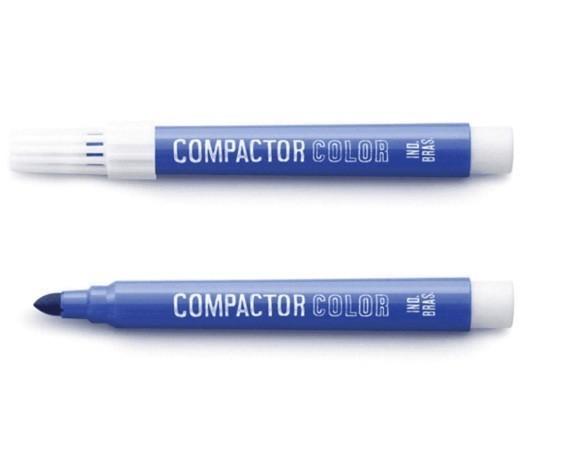 Pincel Color Azul Avulso - Compactor (12 Unidades)