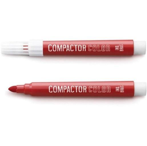Pincel Color Vermelho Avulso - Compactor (12 Unidades)