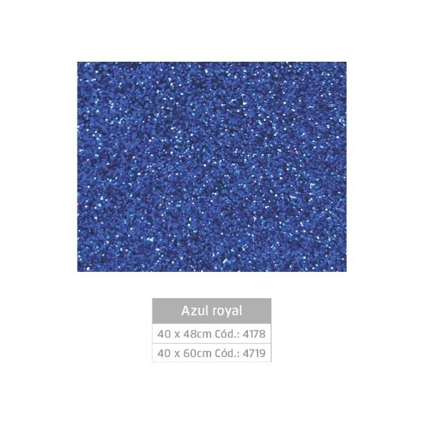 Folhas de EVA Glitter AZUL ROYAL - Jocar