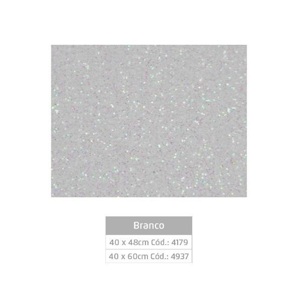 Folhas de EVA Glitter BRANCO - Jocar