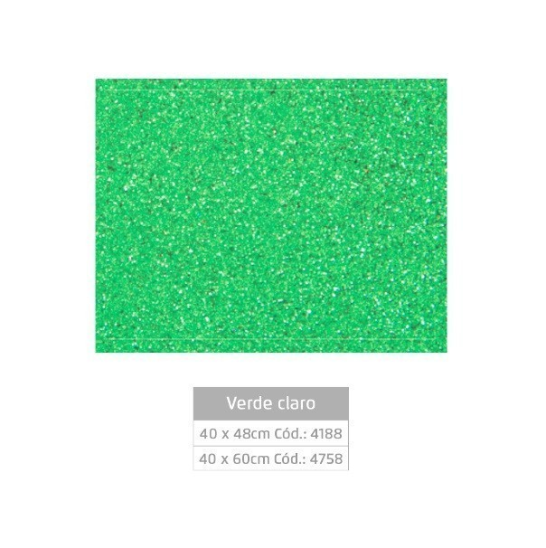 Folhas de EVA Glitter VERDE CLARO - Jocar