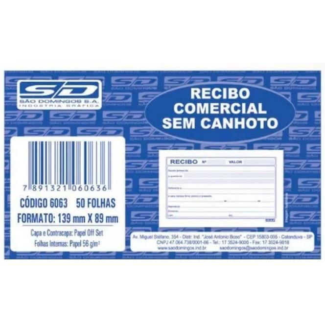 Recibo Comercial sem Canhoto - São Domingos