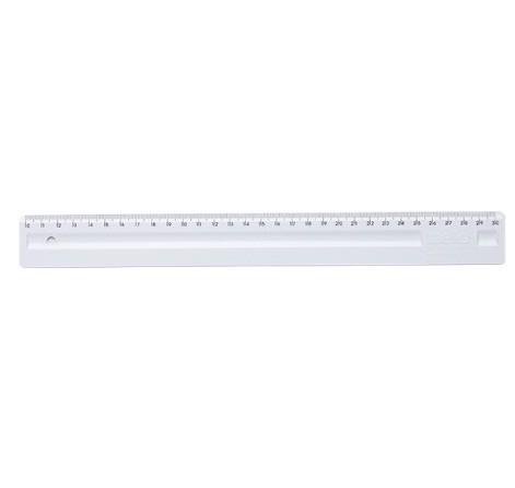 Régua Plástica 30cm BRANCA - Dello (10 Unidades)