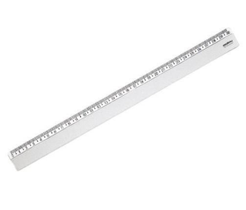 Régua Plástica 30cm CRISTAL - Dello (10 Unidades)