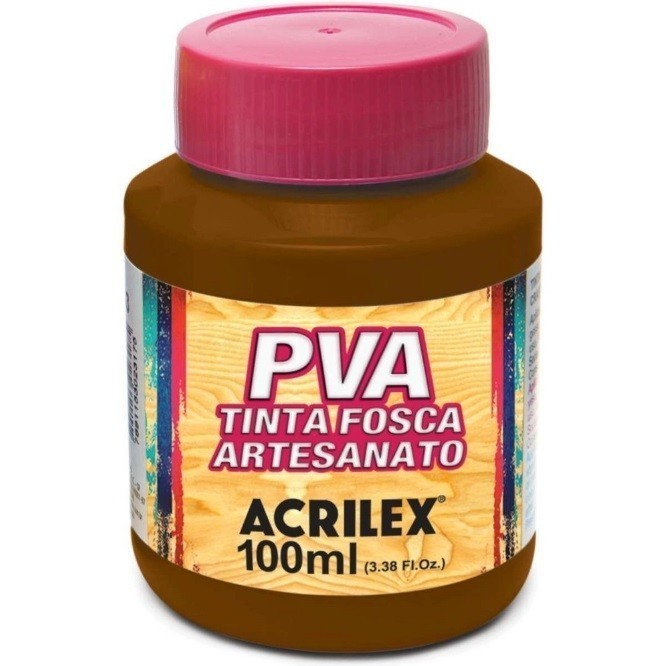 Tinta Fosca Para Artes 100ml MARROM 531 - Acrilex