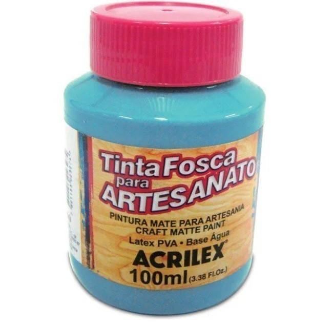 Tinta Fosca Para Artes 100ml AZUL HORTÊNSIA 579 - Acrilex