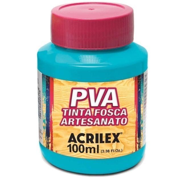 Tinta Fosca Para Artes 100ml AZUL TURQUEZA 501 - Acrilex