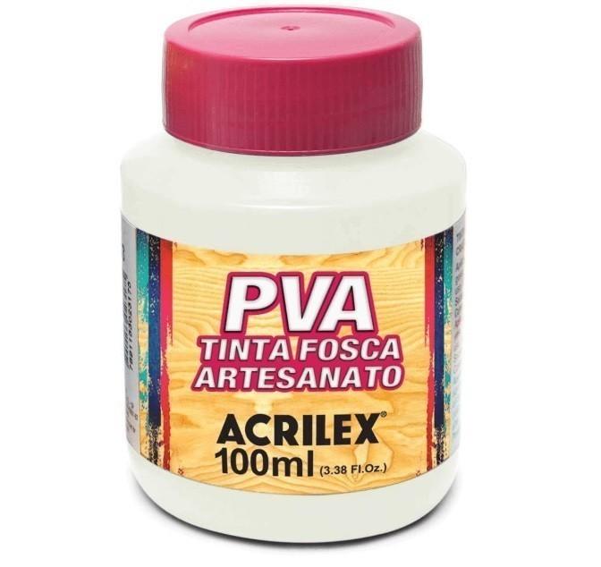 Tinta Fosca Para Artes 100ml BRANCO 519 - Acrilex