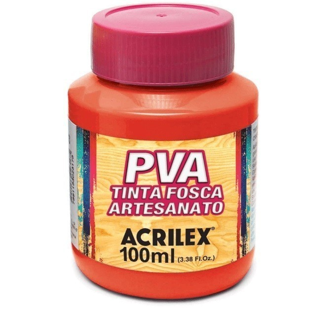 Tinta Fosca Para Artes 100ml VERMELHO FOGO 507 - Acrilex