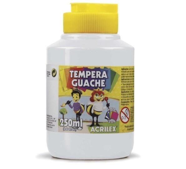 Tinta Guache BRANCO 250ml - PT 03  - Acrilex