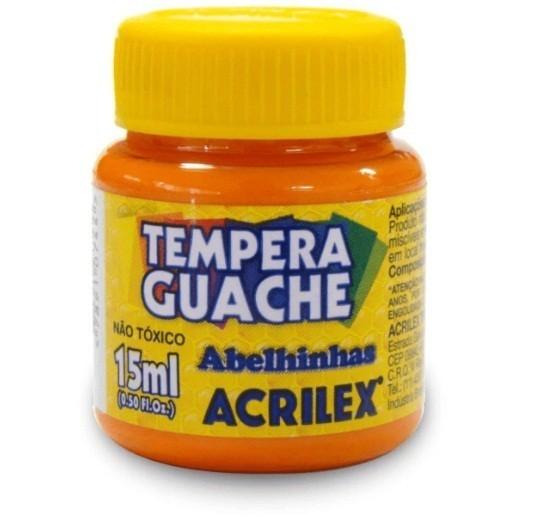 Tinta Guache LARANJA 15ml - Acrilex