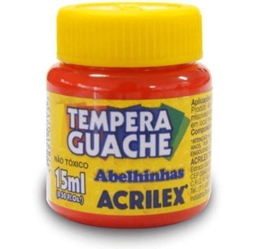 Tinta Guache VERMELHO 15ml 507 - Acrilex