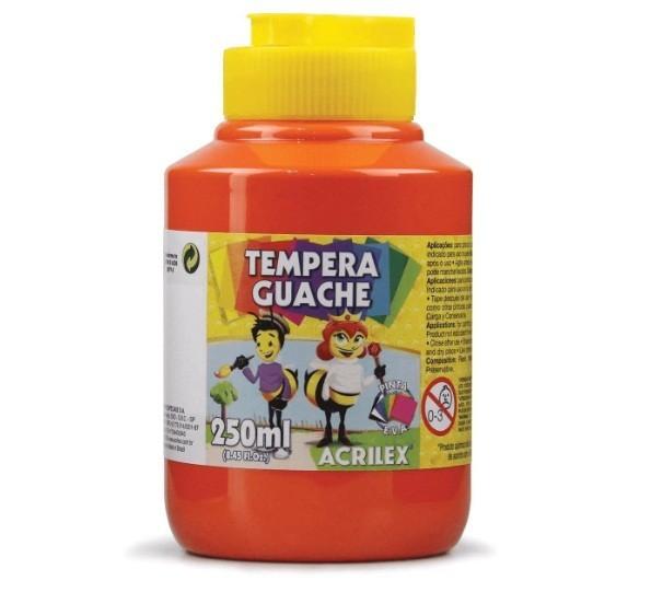Tinta Guache VERMELHO 250ml - PT 03 - 507 - Acrilex