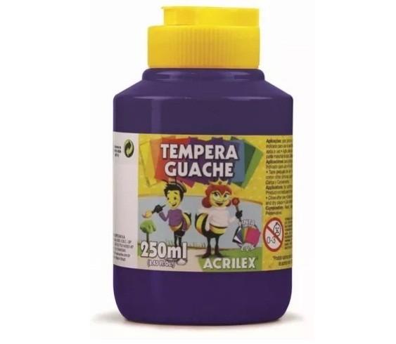 Tinta Guache VIOLETA 250ml - PT 03 - 516 - Acrilex