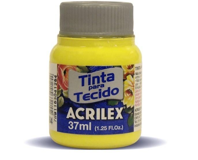Tinta Para Tecido Fosca AMARELO LIMA 37ml 504 - Acrilex