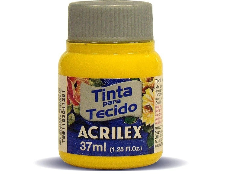 Tinta Para Tecido Fosca AMARELO OURO 37ml 505 - Acrilex