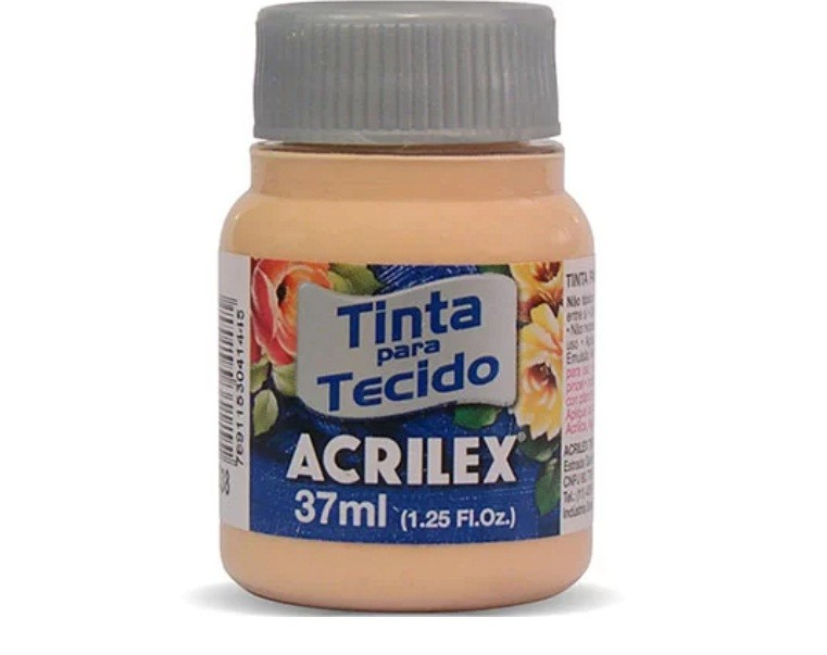 Tinta para Tecido Fosca AMARELO PELE 37ml 538 - Acrilex
