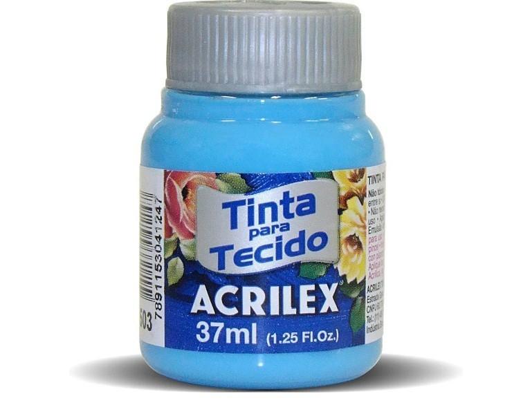 Tinta para Tecido Fosca AZUL CELESTE 37ml 503 - Acrilex