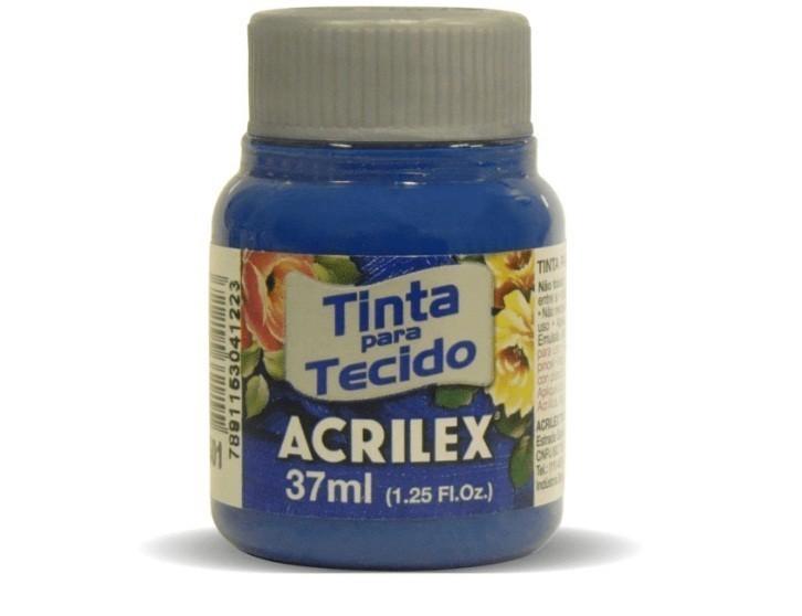 Tinta Para Tecido Fosca AZUL TURQUEZA 37ml 501 - Acrilex