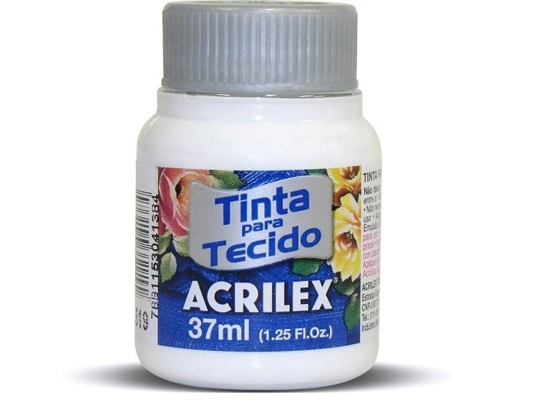 Tinta para Tecido Fosca BRANCO 37ml 519 - Acrilex