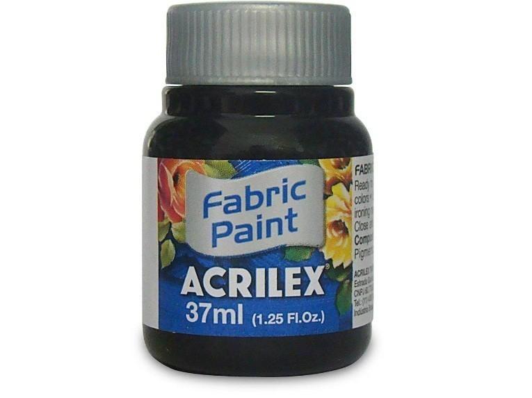 Tinta para Tecido Fosca PRETO 37ml 520 - Acrilex