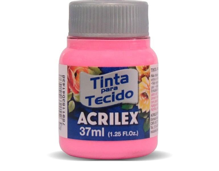 Tinta Para Tecido Fosca ROSA 37ml 537 - Acrilex