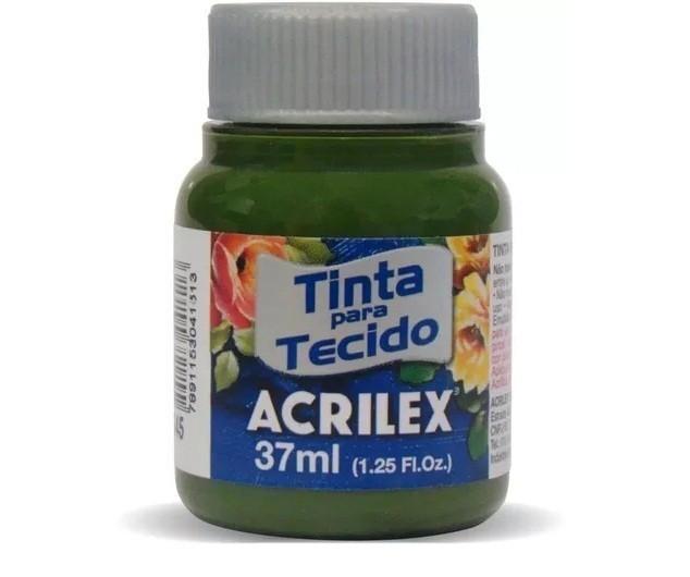 Tinta Para Tecido Fosca VERDE OLIVA 37ml 545 - Acrilex