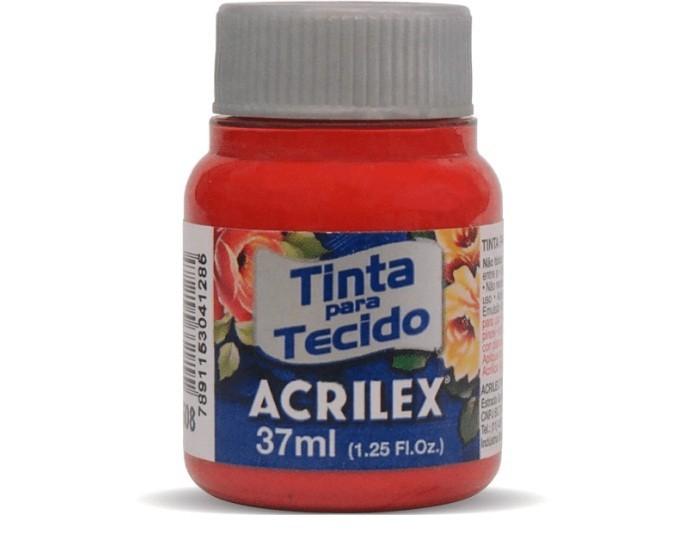 Tinta Para Tecido Fosca VERMELHO ESCURO 37ml 508 - Acrilex
