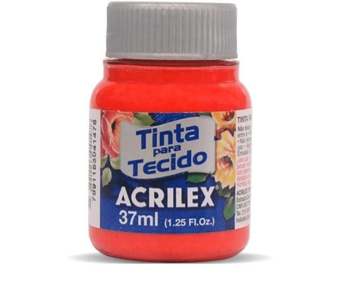 Tinta para Tecido Fosca VERMELHO VIVO 37ml 541 - Acrilex