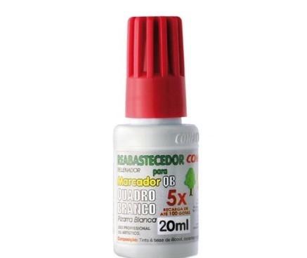 Tinta Reabastecedor 20 ml Marcador Quadro Branco VERMELHO - Compactor (12 Unidades)