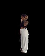 Calça Pantalona Moletom Margarida Mescla