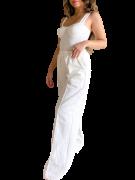 Calça Pantalona Moletom Margarida Off-White