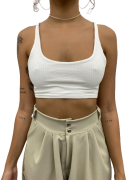 Cropped Isis Off-white