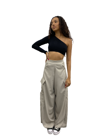 Calça Pantalona Cloe Gray