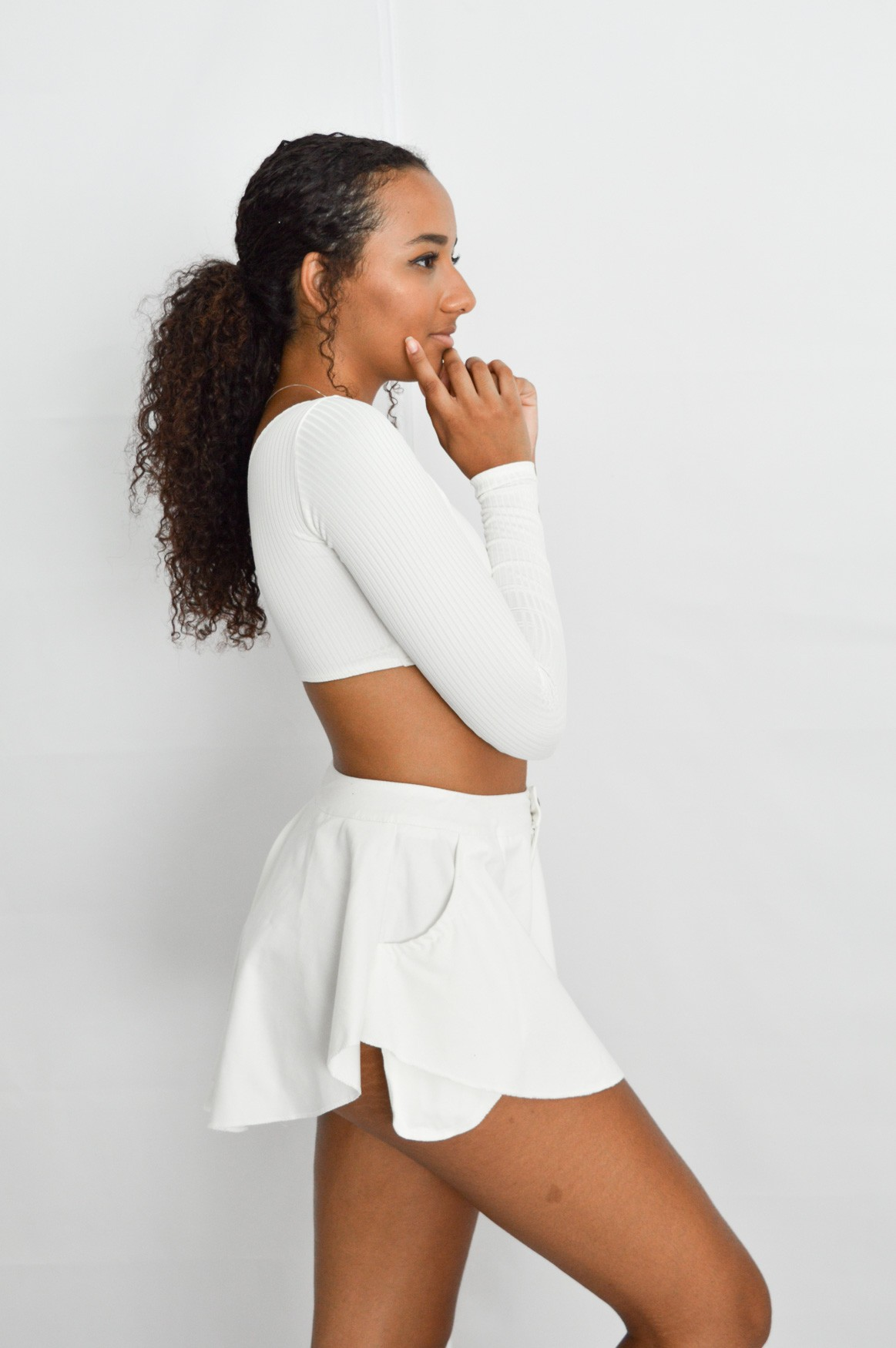 Cropped Bela Off-white
