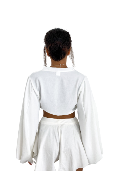 Cropped Maia Off-white