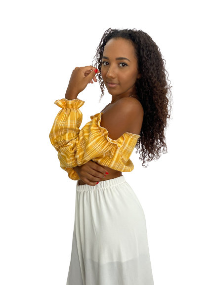 Cropped Valentina Amarelo