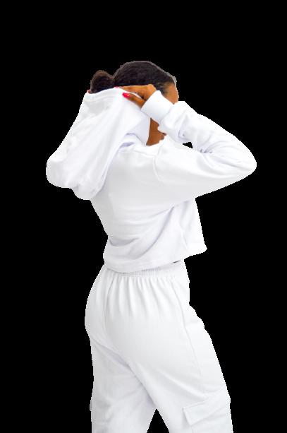 Moletom Cropped Branco