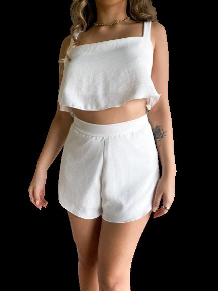 Short Begônia Off-White